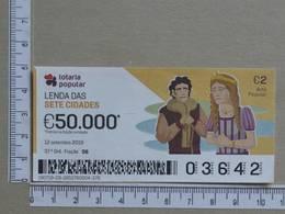 PORTUGAL - 2019 - LOTARIA POPULAR -  37ª -  2 SCANS   (Nº35844) - Lottery Tickets