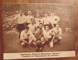 ASSOCIATION SPORTIVE MOZÉRIENNE EQUIPE 1 (FOOTBALL) (PHOTO DE JOURNAL: 08/1933) - Rhône-Alpes