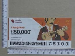 PORTUGAL - 2019 - LOTARIA POPULAR -  38ª -  2 SCANS   (Nº35845) - Lottery Tickets