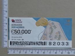 PORTUGAL - 2019 - LOTARIA POPULAR -  39ª -  2 SCANS   (Nº35846) - Lottery Tickets
