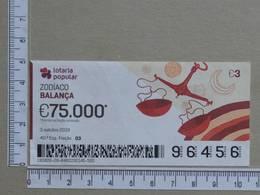 PORTUGAL - 2019 - LOTARIA POPULAR -  40ª -  2 SCANS   (Nº35847) - Lottery Tickets
