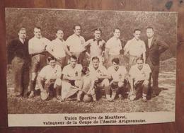 AVIGNON-MONTFAVET (VAUCLUSE-: UNION SPORTIVE DE MONTFAVET (FOOTBALL) (PHOTO DE JOURNAL: 08/1933) - Provence - Alpes-du-Sud