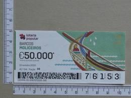 PORTUGAL - 2019 - LOTARIA POPULAR -  41ª -  2 SCANS   (Nº35848) - Lottery Tickets