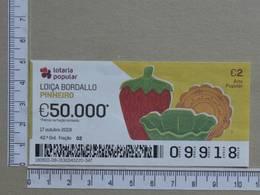 PORTUGAL - 2019 - LOTARIA POPULAR -  42ª -  2 SCANS   (Nº35849) - Lottery Tickets