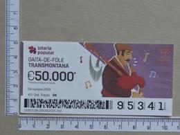 PORTUGAL - 2019 - LOTARIA POPULAR -  43ª -  2 SCANS   (Nº35850) - Lottery Tickets