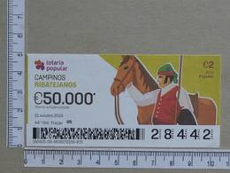 PORTUGAL - 2019 - LOTARIA POPULAR -  44ª -  2 SCANS   (Nº35851) - Lottery Tickets