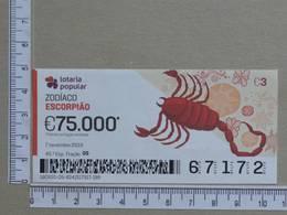 PORTUGAL - 2019 - LOTARIA POPULAR -  45ª -  2 SCANS   (Nº35852) - Lottery Tickets