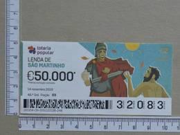PORTUGAL - 2019 - LOTARIA POPULAR -  46ª -  2 SCANS   (Nº35853) - Lottery Tickets