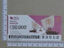 PORTUGAL - 2019 - LOTARIA POPULAR -  47ª -  2 SCANS   (Nº35854) - Lottery Tickets