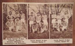AUTUN (SAÔNE-ET-LOIRE): CERCLE SPORTIF SAINT-JEAN D'AUTUN (BASKET) 3 ÉQUIPES (PHOTO DE JOURNAL: 08/1933) - Bourgogne
