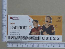 PORTUGAL - 2019 - LOTARIA POPULAR -  48ª -  2 SCANS   (Nº35855) - Lottery Tickets