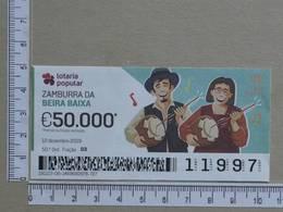 PORTUGAL - 2019 - LOTARIA POPULAR -  50ª -  2 SCANS   (Nº35857) - Lottery Tickets