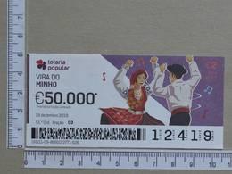 PORTUGAL - 2019 - LOTARIA POPULAR -  51ª -  2 SCANS   (Nº35858) - Lottery Tickets