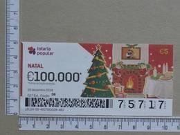 PORTUGAL - 2019 - LOTARIA POPULAR -  52ª -  2 SCANS   (Nº35859) - Lottery Tickets