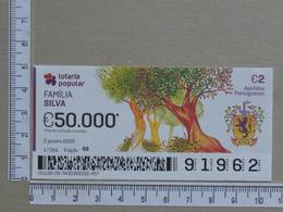 PORTUGAL - 2020 - LOTARIA POPULAR -  1ª -  2 SCANS   (Nº35860) - Lottery Tickets