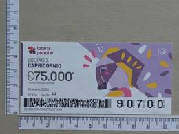 PORTUGAL - 2020 - LOTARIA POPULAR -  3ª -  2 SCANS   (Nº35862) - Lottery Tickets