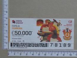 PORTUGAL - 2020 - LOTARIA POPULAR -  4ª -  2 SCANS   (Nº35863) - Lottery Tickets