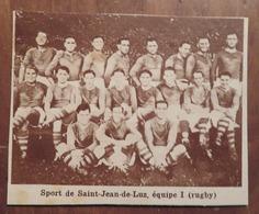 SAINT-JEAN-DE-LUZ (PAYS BASQUE): SPORT DE SAINT-JEAN DE LUZ (RUGBY) (PHOTO DE JOURNAL: 11/1931) - Pays Basque