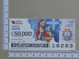 PORTUGAL - 2020 - LOTARIA POPULAR -  7ª -  2 SCANS   (Nº35866) - Lottery Tickets