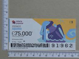 PORTUGAL - 2020 - LOTARIA POPULAR -  8ª -  2 SCANS   (Nº35867) - Lottery Tickets