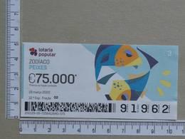 PORTUGAL - 2020 - LOTARIA POPULAR -  12ª -  2 SCANS   (Nº35871) - Lottery Tickets