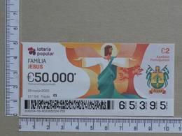 PORTUGAL - 2020 - LOTARIA POPULAR -  13ª -  2 SCANS   (Nº35872) - Lottery Tickets