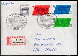 Germany Dillingen 1981 / Philatelic Exhibition / 20 Jahre Patentschaft Stadt Dillingen-Tender Saar / Coat Of Arms Church - Briefmarkenausstellungen