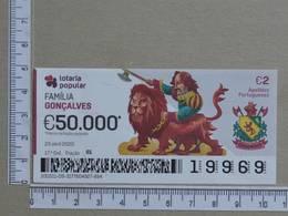PORTUGAL - 2020 - LOTARIA POPULAR -  17ª -  2 SCANS   (Nº35875) - Lottery Tickets