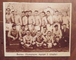 BARSAC (GIRONDE): BARSAC OLYMPIQUE- ÉQUIPE 1 (RUGBY) (PHOTO DE JOURNAL: 11/1931) - Aquitaine