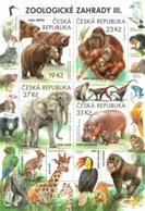 A 991 - 994 Czech Rep. Nature Protection: Zoological Gardens III 2018 Elephant Orangutan Bear Hippo Kiwi Giraffe Frog - Repubblica Ceca