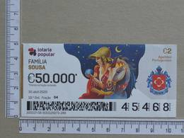 PORTUGAL - 2020 - LOTARIA POPULAR -  18ª -  2 SCANS   (Nº35876) - Lottery Tickets