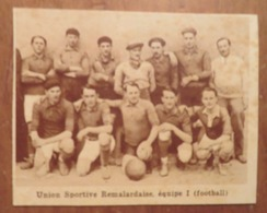 REMALARD (ORNE): UNION SPORTIVE RÉMALARDAISE- ÉQUIPE 1 (FOOTBALL) (PHOTO DE JOURNAL: 11/1931) - Normandie
