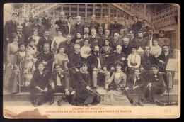 GRUPOS De MUSICA Orchestra Da Real Academia De Amadores De MUSICA (Bairro Alto) LISBOA. Old Postcard MUSIC BAND Portugal - Artistes