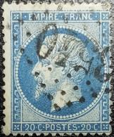 N°22. Variété (Voir Filet Supérieure Du Cadre, Grosses Dents ). Oblitéré Losange G.C. N°3540 Saint-Chamond - 1862 Napoléon III