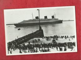 Carte - Le Havre  - La Jetée - Départ Du Paquebot  Normandie - Autres