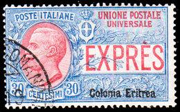 Scott E2   Italy 30c Special Delivery Overprinted Colonia Eritrea. Used. - Eritrea