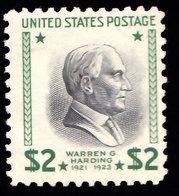 Scott 833   $2 Harding Prexie. Mint Never Hinged. - Vereinigte Staaten