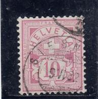 Suisse - Année 1882 - Croix Fédérale - YT N°60 - Papier Blanc - 1882-1906 Armoiries, Helvetia Debout & UPU