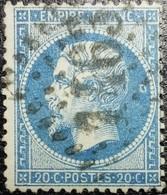 N°22. Variété (Voir Lune Derrière La Tête). Oblitéré Losange G.C. N°1463 Falaise - 1862 Napoléon III