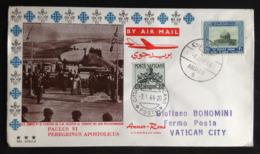 Jordan, Addressed FDC, « POPE Paul VI », « Flight Amman - Roma », 1964 - Giordania