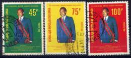 CONGO - 613/615° - COLONEL DENIS SASSOU-NGUESSO - Oblitérés