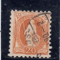 Suisse - Année 1888 - Helvétia Debout - N°YT 81 - Dentelé 91/2 - 1882-1906 Armoiries, Helvetia Debout & UPU