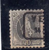 Suisse - Année 1888 - Helvétia Debout - N°YT 83 - Dentelé 91/2 - 1882-1906 Armoiries, Helvetia Debout & UPU