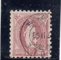 Suisse - Année 1888 - Helvétia Debout - N°YT 85 - Dentelé 9 1/2 - 1882-1906 Armoiries, Helvetia Debout & UPU