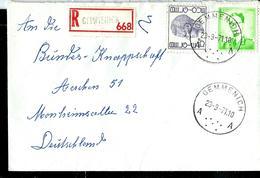Doc. De GEMMENICH - A A - Du 23/09/71. En Rec. - Marcophilie