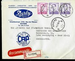 Doc. De GAVERE - B B - Du 08/08/66 En Rec. - Poststempel