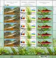 Ukraine 2007 Mi.No. 894 - 895 Joint Issues MOLDOVA FISHES  Fauna Des Dnjestr  M\sh CTO  17,00 € - Joint Issues