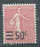 France YT N°224 Semeuse Lignée Surchargé Neuf ** - 1903-60 Sower - Ligned
