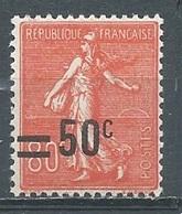 France YT N°220 Semeuse Lignée Surchargé Neuf ** - 1903-60 Sower - Ligned