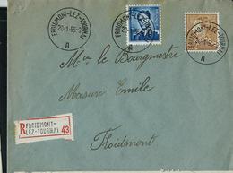Doc. De FROIDMONT - LEZ - TOURNAI - A - Du 20/01/56  En Rec. - Marcophilie